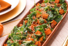 Hearty Thanksgiving Sweet Potato, Kale, and Farro Salad