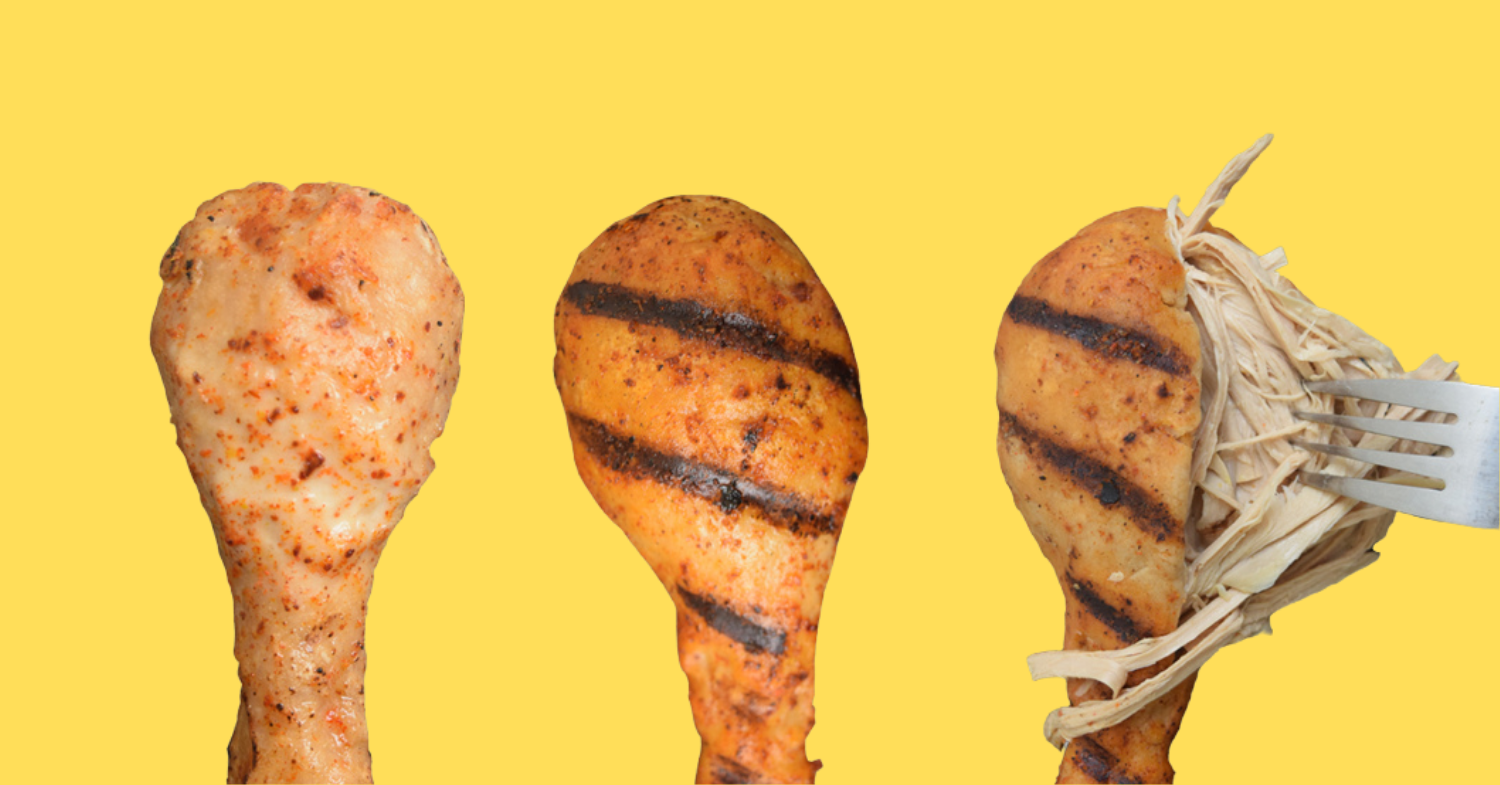 Vegan Drumsticks That Pull Apart Like Chicken to Launch Globally