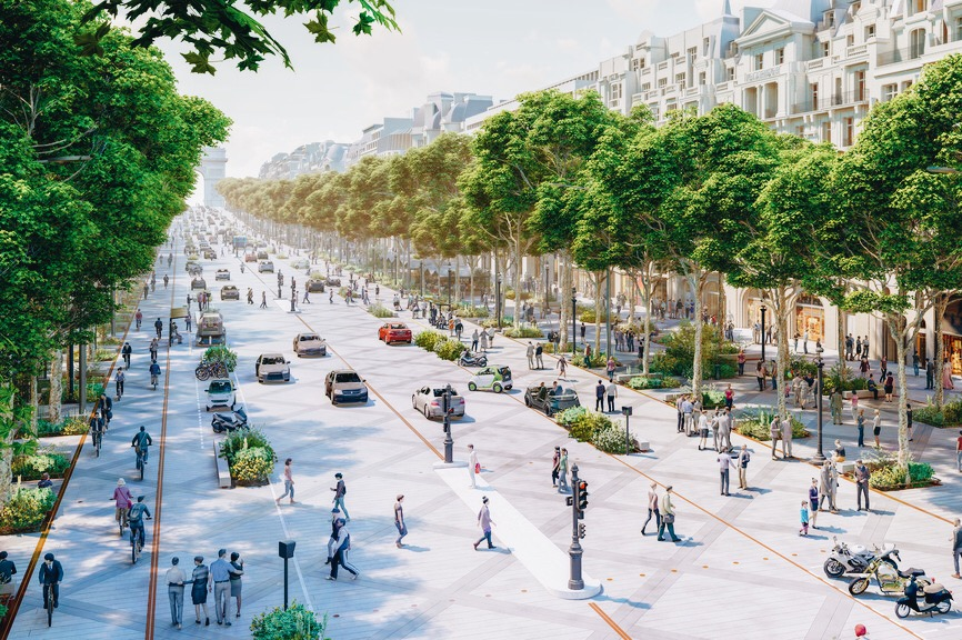 Sustainable Paris: New City Plan Calls for Fewer Cars, More Plants