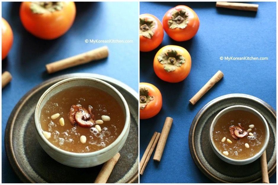 Lunar New Year recipe: Sujeonggwa features ginger, cinnamon, and a little sugar.