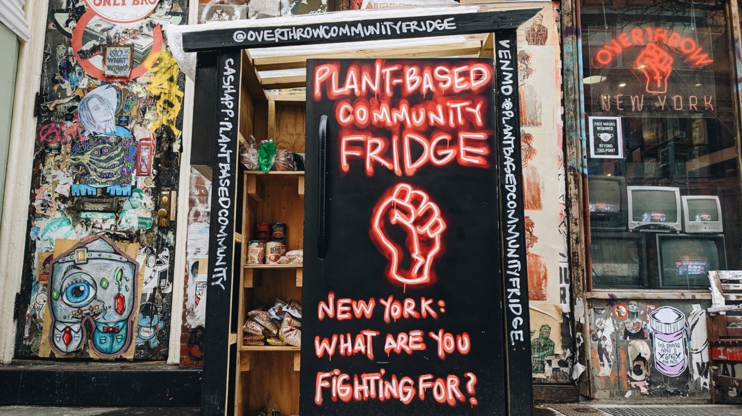 A Community Vegan Fridge Is Providing Free Plant-Based Foods in NYC