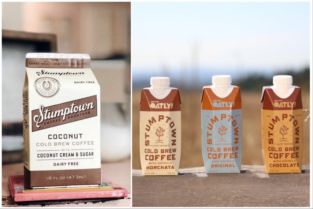 Oatly is blended with Stumptown's cold brew coffee for a caffeine kick. | Stumptown