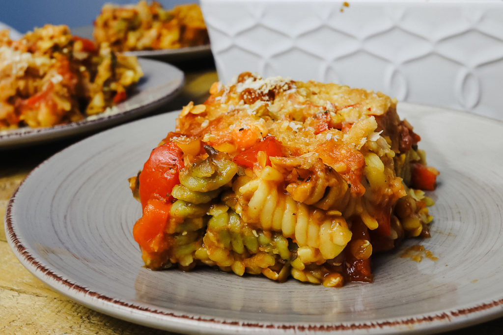 Serve this vegan comfort food meal with a slice of bread. | Cheap Lazy Vegan