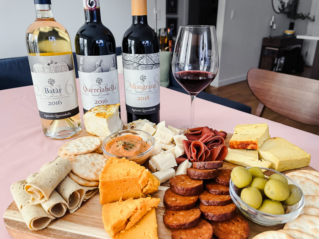 These vegan wine and charcuterie pairings feature wine by Querciabella.