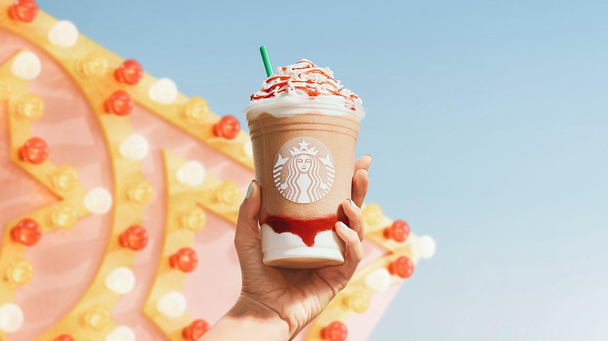 Starbucks Adds Vegan Strawberry Funnel Cake Frappuccino to Its Summer Menu