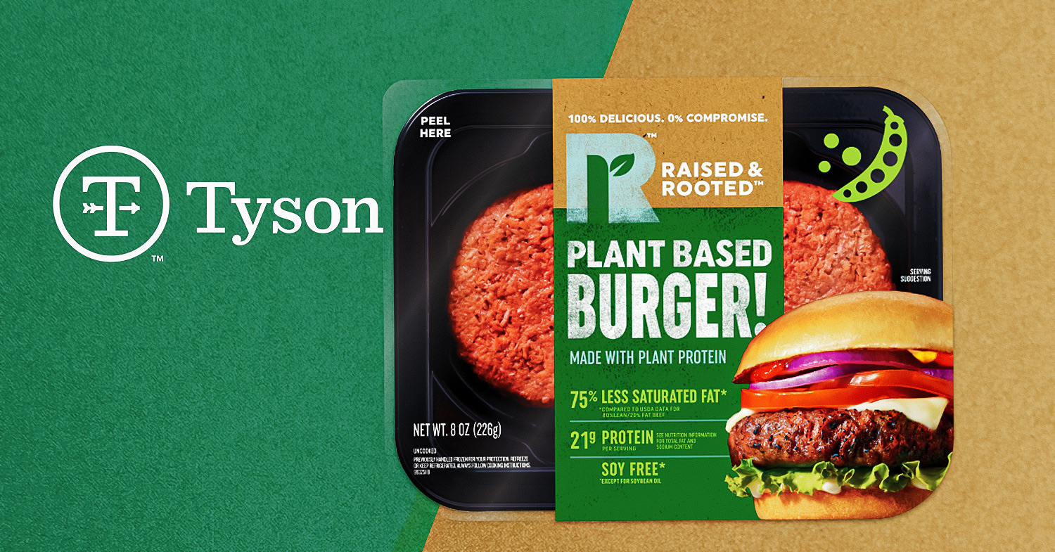 Meat Giant Tyson Foods Introduces Its First Plant-Based Burger