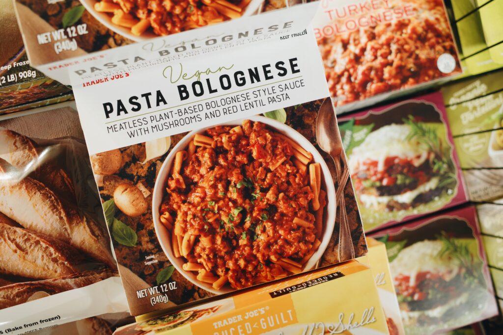 Trader Joe's Vegan Pasta Bolognese