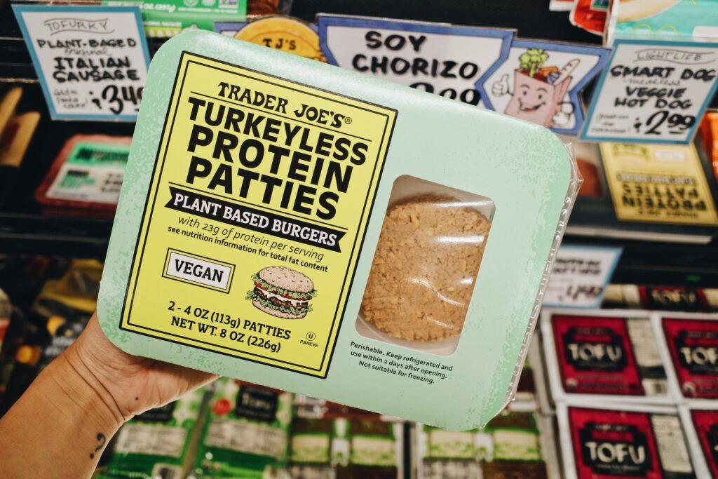 Trader Joe's plant-based turkey patties.