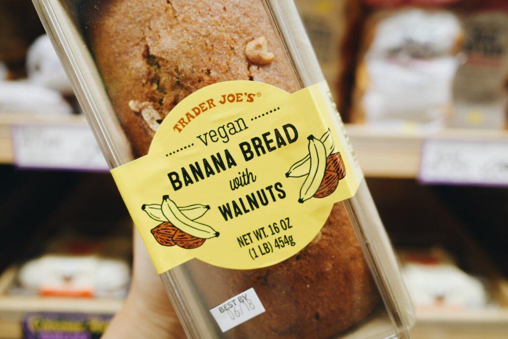 The vegan banana bread at Trader Joe's.