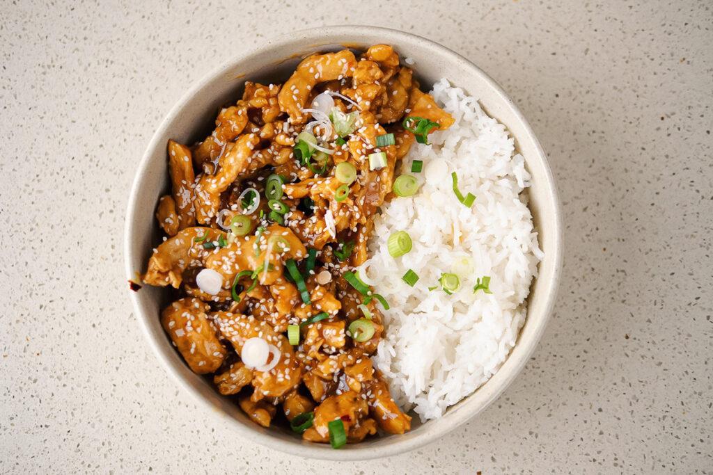 Amanda Castillo's vegan orange chicken recipe