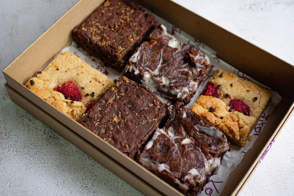 vegan brownie box