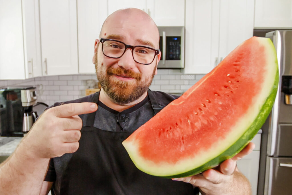 Sauce Stache watermelon steak