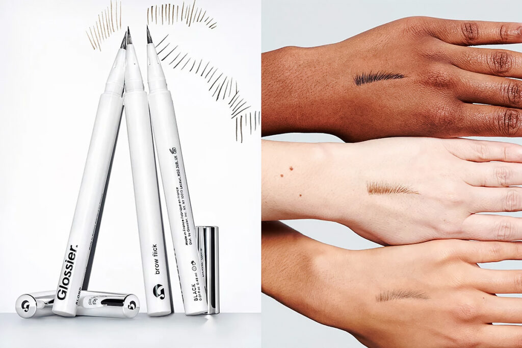 Photo of Glossier's brow flick product, which makes drawing on thin eyebrows easy.