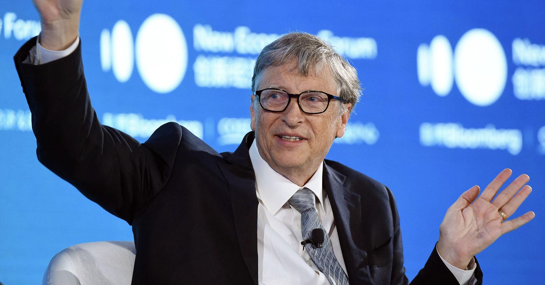Photo shows Bill Gates, who recently raised $1 billion to mitigate climate change through Breakthrough Energy.