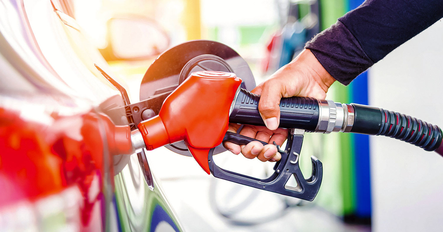 Photo shows someone filling up their car with fuel. As of July, leaded gasoline is banned worldwide.