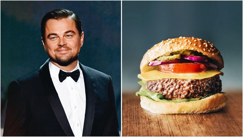 Leonardo DiCaprio split with a cultured meat burger