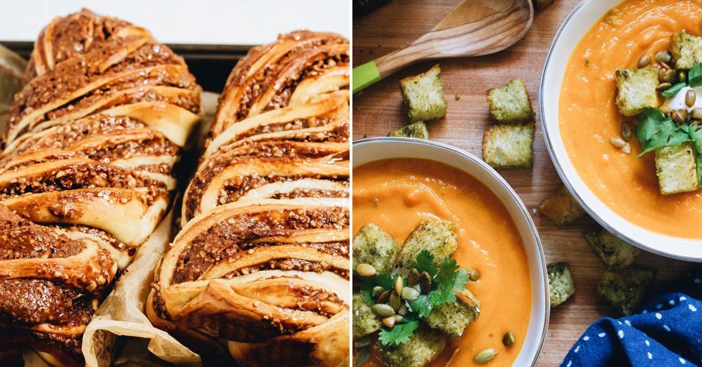 Vegan babka and soup