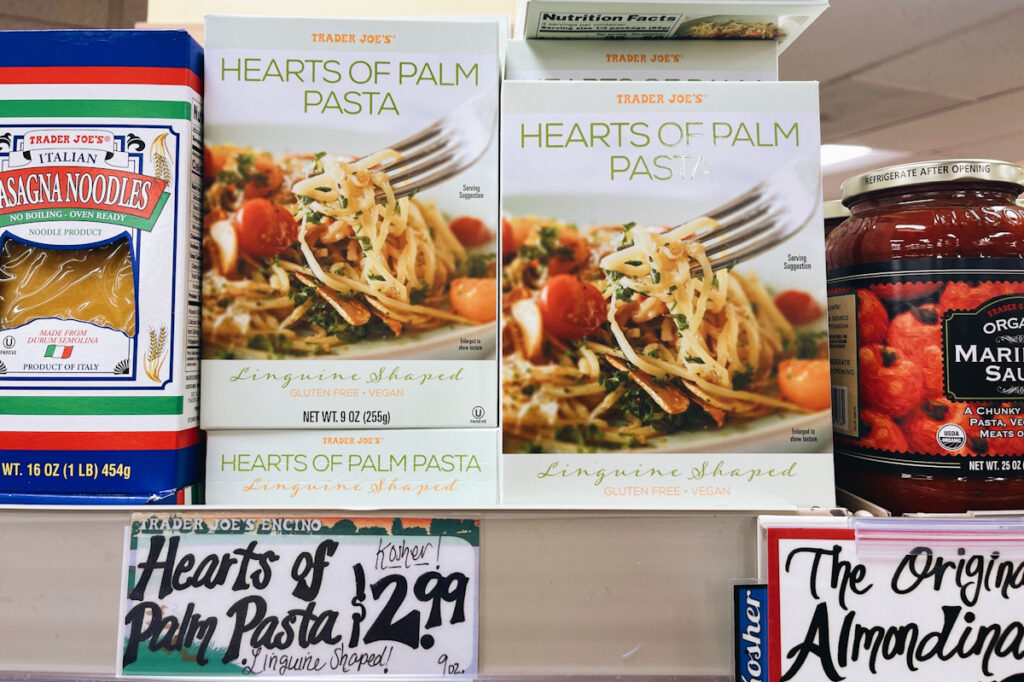 Trader Joe's hearts of palms pasta
