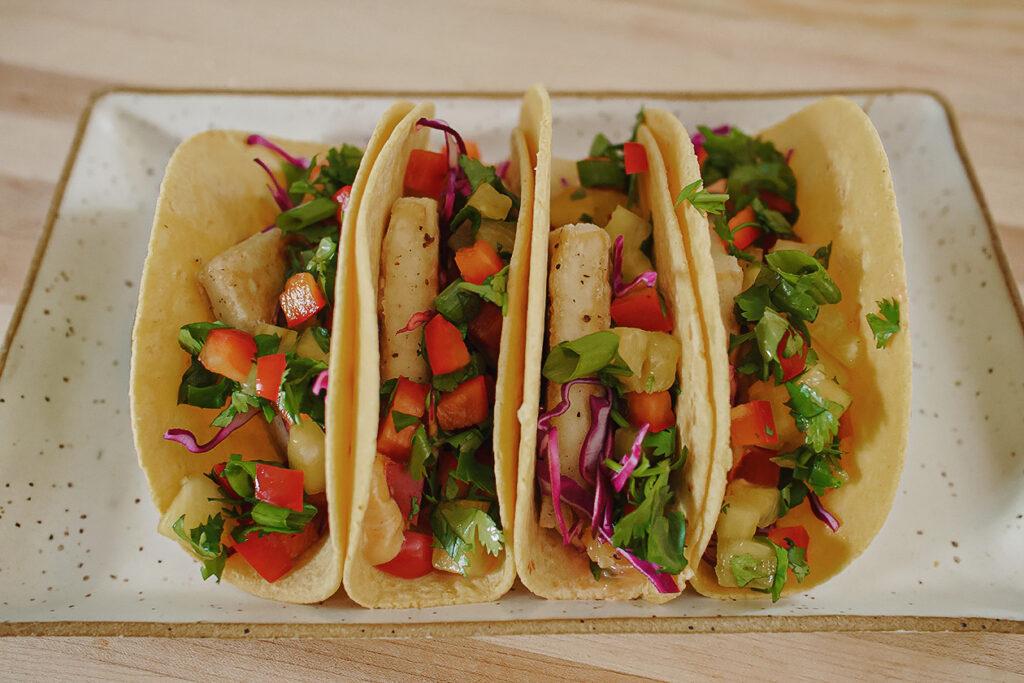 vegan crispy tofu tacos